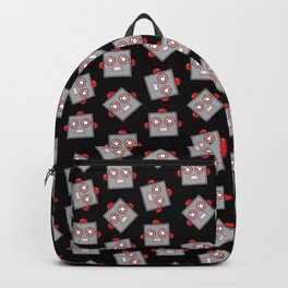 Retro Robot Heads Backpack