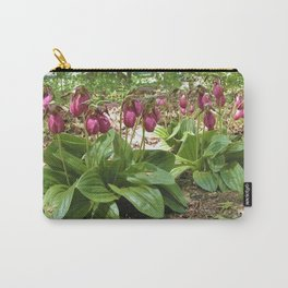 New England Wild Orchid Lady Slipper Flowers Carry-All Pouch