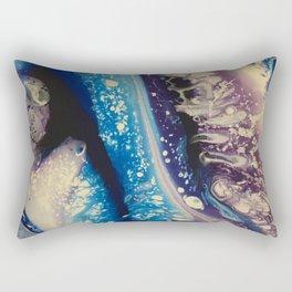Blue & Purple Pour Rectangular Pillow