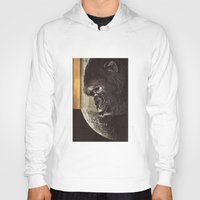 gorilla Hoodies featuring gorilla by Hugo Barros
