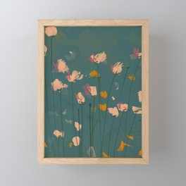 A Field Of Flowers Bloom Framed Mini Art Print