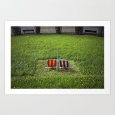 Swiss Seats Art Print