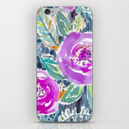 Gardens of Bolinas Purple Floral iPhone Skin