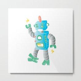 cartoon toy robot. Metal Print