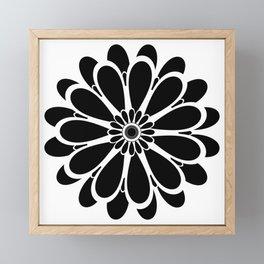 Black Flower Design Framed Mini Art Print