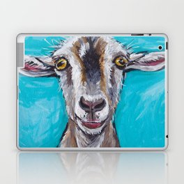 Goat Art, Colorful Farm Animal Laptop & iPad Skin