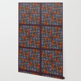 Orange Flowers Stylized Wallpaper