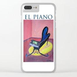 """El piano. """"piano un poco loco"""" Clear iPhone Case"""