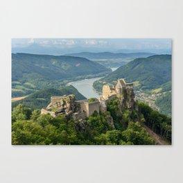 Castle Ruins of Aggstein, Wachau (Austria) Canvas Print