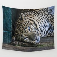 leopard Wall Tapestries featuring Leopard by Dzonatans Jansevics