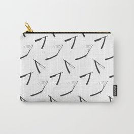 Barbershop pattern with shaving razor Carry-All Pouch