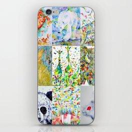 NINE ANIMALS - version 1 iPhone Skin