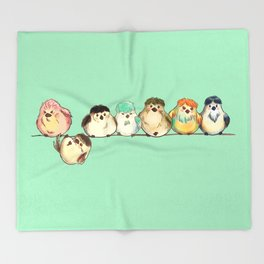 Baebsae Birds Throw Blanket
