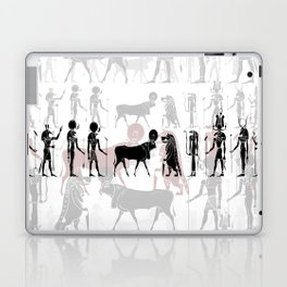 Egyptian gods, goddess, creatures and demons Laptop & iPad Skin