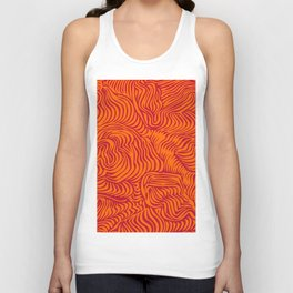 orange red flow Unisex Tank Top