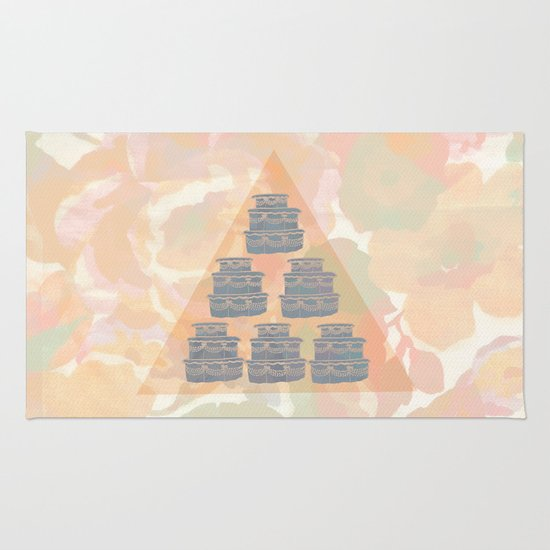 Cake and Flowers Rug
