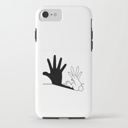 Rabbit Hand Shadow iPhone Case
