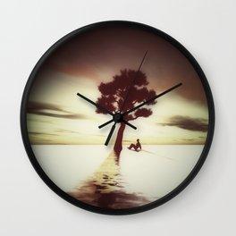 Tree on Water Wall Clock