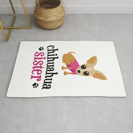 Chihuahua Sister Pet Owner Cute Dog Lover Rug