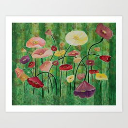 Poppies for Mother Art Print