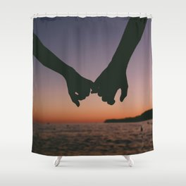 Pinky Promise Shower Curtain
