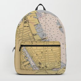 Vintage Map of Providence Harbor RI (1941) Backpack
