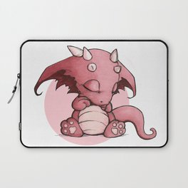 Little Pink Sleepy Dragon Laptop Sleeve