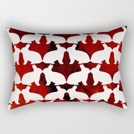 Spring Bunny Rectangular Pillow