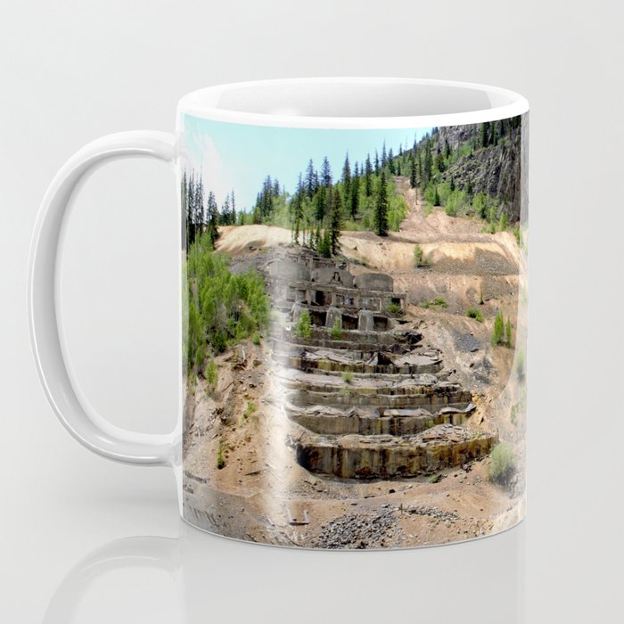 Sunnyside Mill at Eureka on the Alpine Loop, Remnant of the Gold Rush Coffee Mug