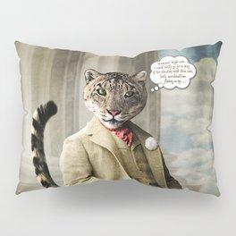 Sir Sebastian Snow Leopard Pillow Sham
