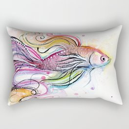 Betta Fish Rectangular Pillow
