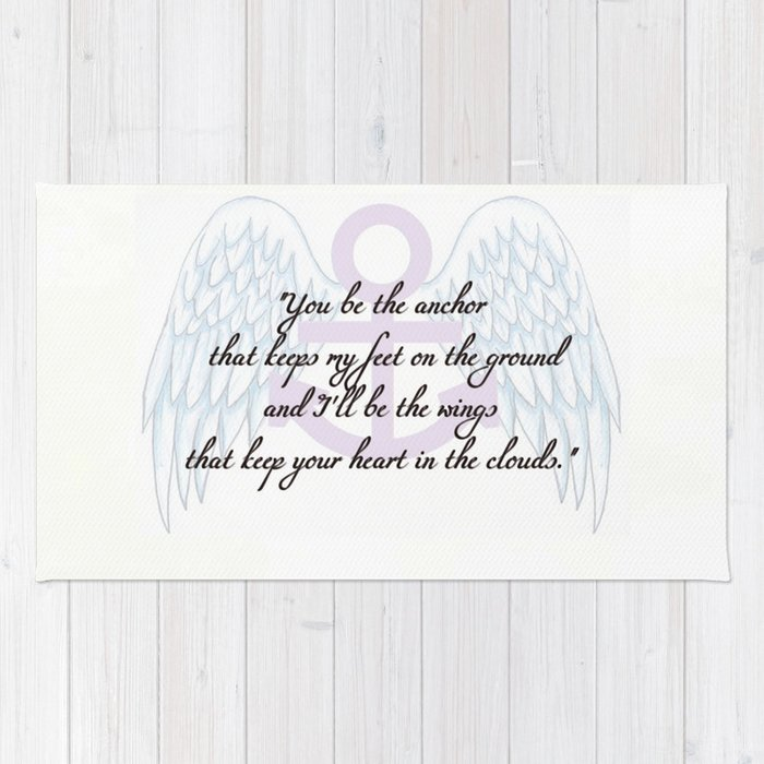 Anchor Wings Quote Rug