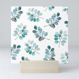 Leafy Love - Round Leaf Mini Art Print