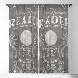 Gypsy Crystal Ball Reader Sign Sheer Curtain