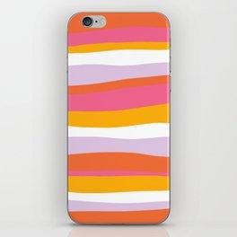 cali beach stripes iPhone Skin