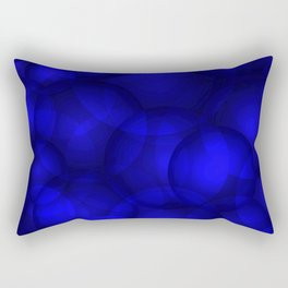 Glowing blue soap circles and volume sea bubbles of air and water. Rectangular Pillow