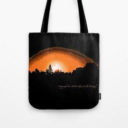 """God's Neighborhood Sunset"" with poem: Serenity Tote Bag"
