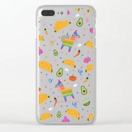 Taco Fiesta Clear iPhone Case