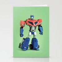 optimus prime Stationery Cards featuring Optimus Prime (Animated) by Fanboy30