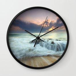 Sunrise sea sky 4 Wall Clock