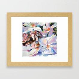 white oleander Framed Art Print