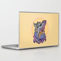 hindu Laptop & iPad Skins featuring Hindu God Ganesha. Hand drawn illustration. by Katyau