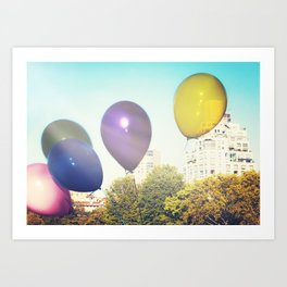 Balloons in the Park Art Print