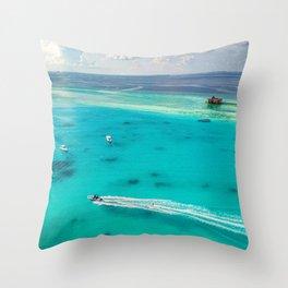 Turquoise Maldives Ocean Throw Pillow