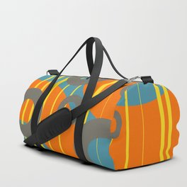 Strips yellow - grey and orange Rings Duffle Bag