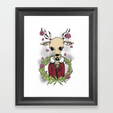 Going Stag. Hunting. Framed Art Print