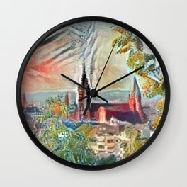 Fall Mainz Cathedral Wall Clock