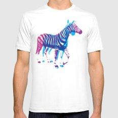 Zebras White Mens Fitted Tee MEDIUM