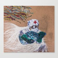 doctor Canvas Prints featuring doctor by Valentin Blagodov