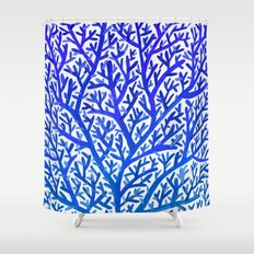 Fan Coral – Blue Ombré Shower Curtain